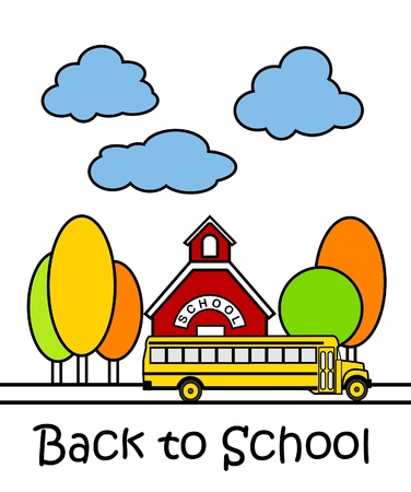 illustration of colorful back to school cartoon