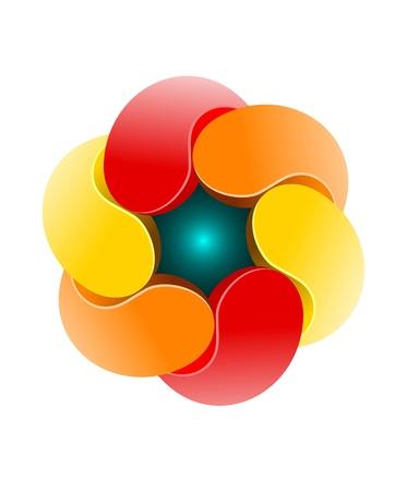 Unique colorful design element on white background