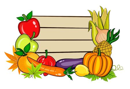 fall harvest: Vegetables with copy space