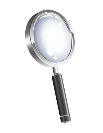 zoomed:  illustration of 3d magnification glass