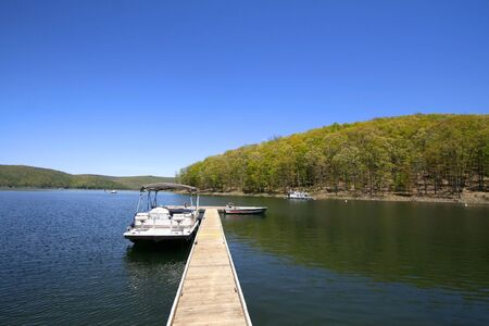 allegheny: allegheny river in Pennsylvania in spring time