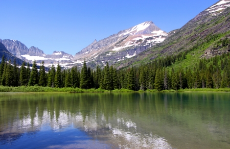 Snelle huidige lake