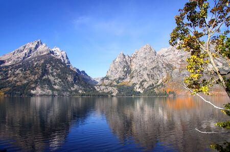 jenny: Grand Tetons mountains by the Jenny lake