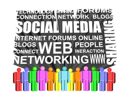 3d Icon of social media and networking icon Stock Photo
