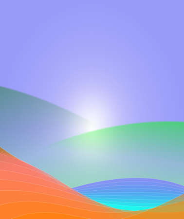 ripple effect: An illustration of colorful abstract background Stock Photo