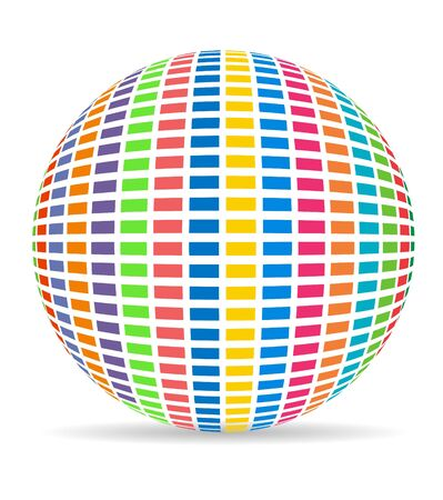 colorful ball with equalizer ball photo
