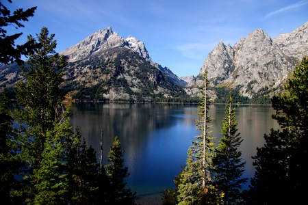 jenny: Grand Tetons and jenny lake landscape in Wyoming