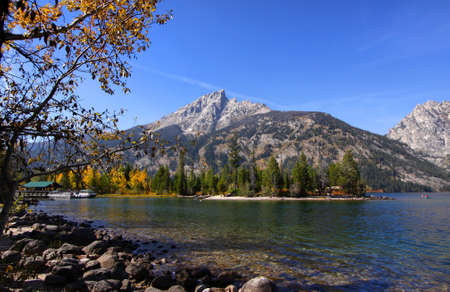 jenny: Jenny lake in Grand Tetons national park Stock Photo