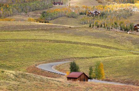Last dollar road in San Juan mountains of Colorado photo