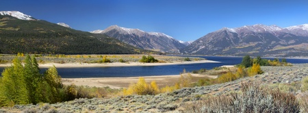 colorado mountains: scenic twin lakes recreation area