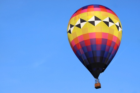 Hot air balloon against blue sky background Stock Photo - 10018471
