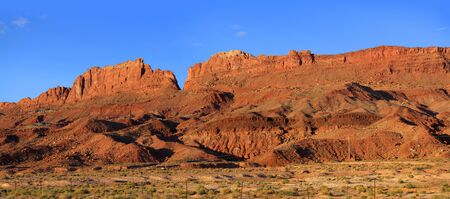 southwest: Panoramic view of sandstone buttes in arizona