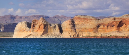 reservoir: Panoramic view of scenic Lake Powell landscape