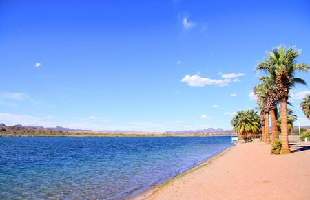 sandbar: Scenic landscape at Lake Havasu city in Arizona