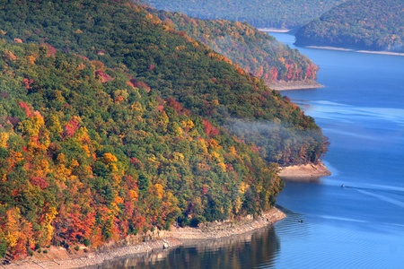 allegheny: Allegheny national forest landscape in fall time  Stock Photo