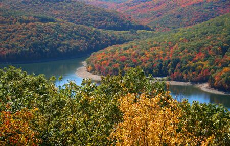allegheny: Scenic Allegheny national forest landscape in fall time  Stock Photo