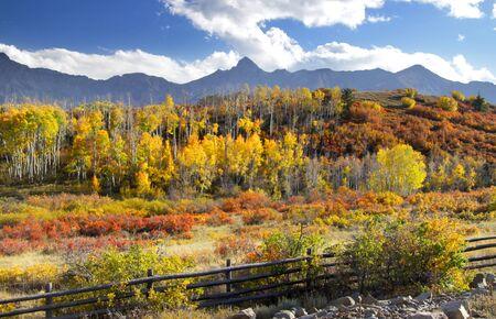 divide:  autumn landscape at Dallas divide in Colorado Stock Photo