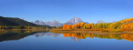wyoming: Grand Tetons national park in Autumn time