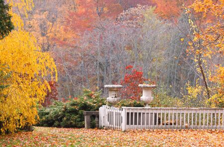 Autumn scene in historic Cranbrook  park in Michigan Stock Photo - 10667634