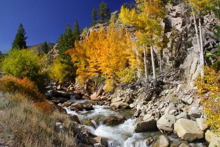 Cascade water valt Stockfoto