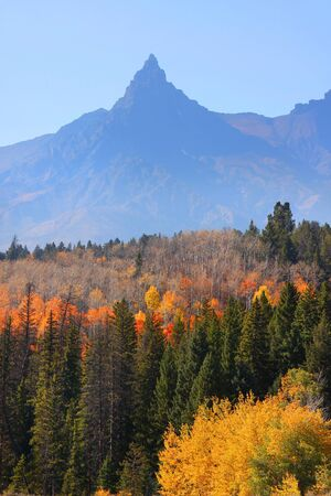 Beautiful fall scene in Grand Tetons National park photo