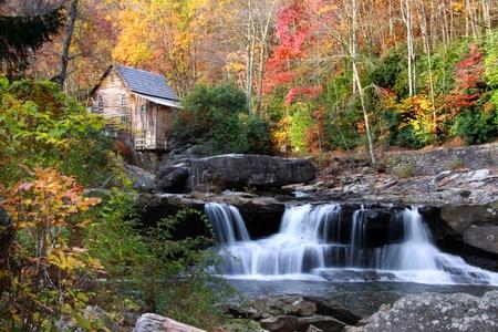 Glade creek grist mil 스톡 콘텐츠