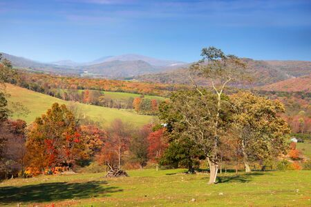 Appalachian mountains in Autumn time