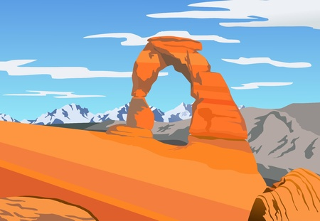 Illustration of Arches park Stock Illustration - 11310763
