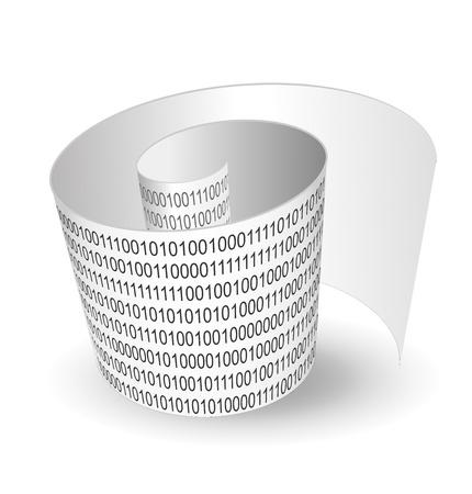 illustration of binary text strip
