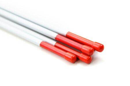 Tall 48 inch orange driveway marker sticks
