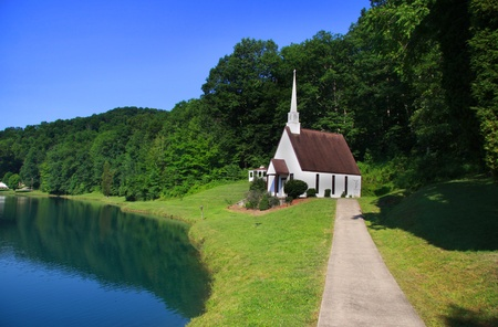 west virginia: Historic church in Romance West Virgina Stock Photo