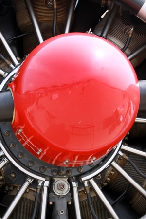 Small air plane jet engine propeller details  photo