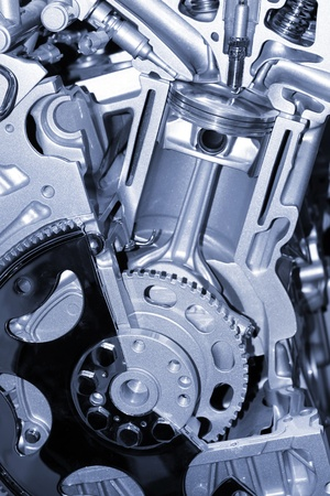 mechanical: Zuiger en cilinder details verbrandingsmotor