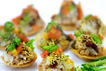 Indian snack Batata puri