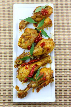 tandoori chicken: Fried Chicken drumsticks Stock Photo