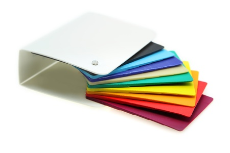 Different plastic material samples on white background Stock fotó