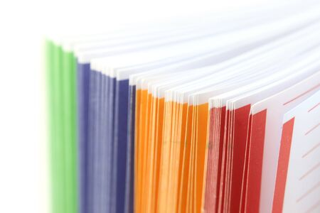 Colorful binder separates close up shot  photo