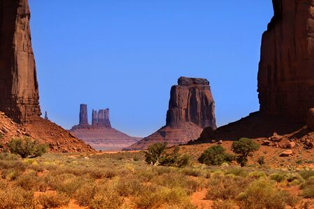 Scenic landscape of Monument valley in Arizona Stock Photo - 11972426