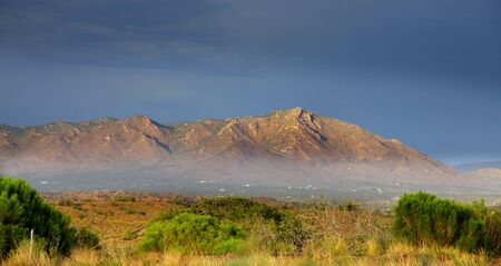 Early morning fog at Sonaran desert near Phoenix Stock Photo - 11972423