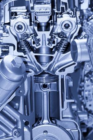 cilindro: Detalles del motor de automoci�n Foto de archivo