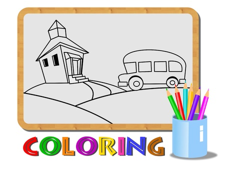 An illustration of kids coloring concept Stock Illustration - 12034928
