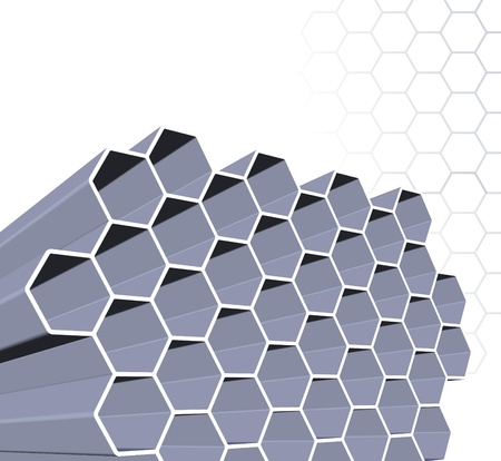 Abstract honey comb structure  Stock Photo - 12034920