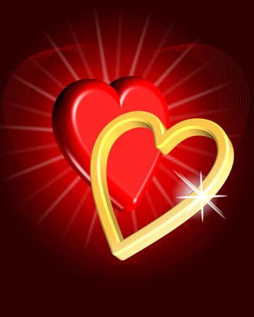 illustration of Valentines day concept Stock Illustration - 12034923