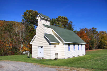 west virginia trees: Small church in the Appalachian mountains