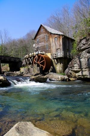 molino de agua: Glade Creek Grist Mill en Virginia Occidental