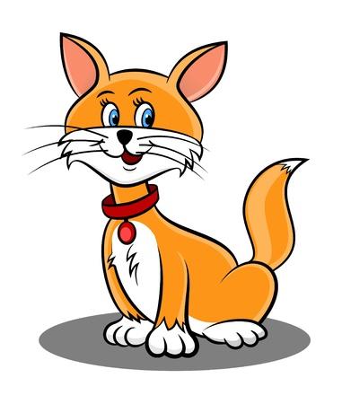 An illustration of cute cat cartoon Foto de archivo