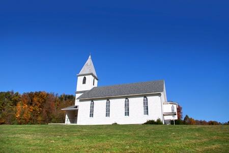 Kleine kerk op het platteland van West-Virginia