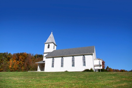 Small church in rural West Virginia photo