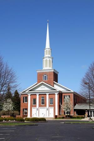 Elegent church building against blue sky Reklamní fotografie
