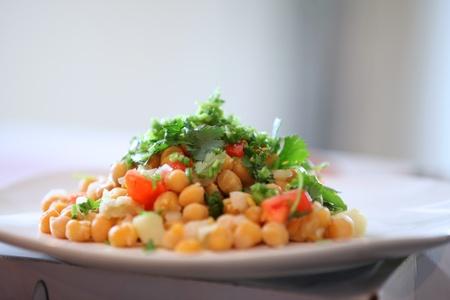 Chat masala , Marsala Indian dish with Chik peas